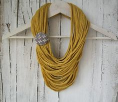 Yellow multistrand upcycled jersey fabric by BaobabFabricArt, $27.00