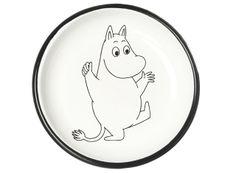 Muumi Emalilautanen, Muumipeikko / Moomin Enamel Plate, Stinky #Muurla #Muumilautanen