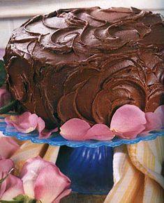 Fudgy Chocolate Birthday Cake