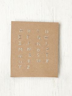 Alphabet Post Earring from Free People - $25.00