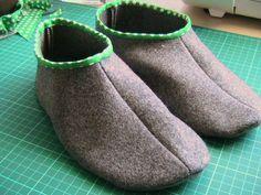 Chinelos feitos com sobra de tecido – Passo-a-passo | abóboraverde.com