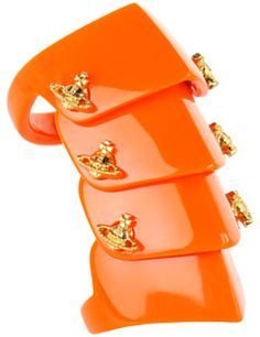 Vivienne Westwood Resin Armour Ring in Orange (o)