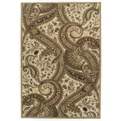 Achim Easton Paisley 62 in. x 91 in. Area Rug-313/G15-W at The Home Depot