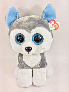 931d2ab9d88 Ty Beanie Boos Large Slush Husky Dog Plush Stuffed Animal 16