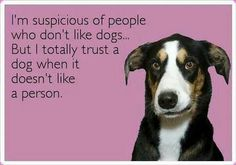 Totally trust a dog when it doesn't like a person