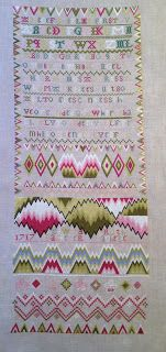 A Gentleman's Samplings: Robert's finished Ruth Bacheler  I have this chart and I need to stitch it one day!