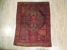 "Antique Handmade Kazak Stunning 4'5"" x 6' Vintage Rug #NLC #TraditionalPersianOriental"