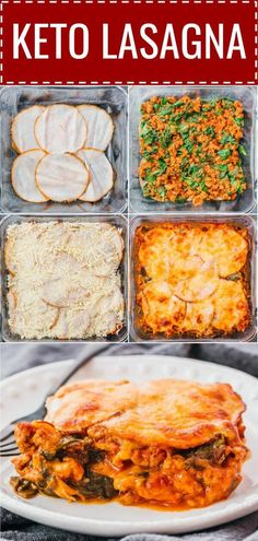 This keto lasagna bake is an easy low carb recipe. A meat sauce with spinach is … This keto lasagna bake is an easy low. Meat Recipes, Low Carb Recipes, Healthy Recipes, Lasagna Recipes, Healthy Cooking, Dinner Recipes, Receitas Crockpot, Turkey Lunch Meat, Low Carb Lasagna