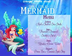 Mommy and Things: Disney Movie Night: The Little Mermaid