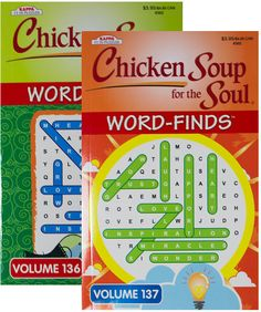 Word Finds Puzzle Book-Chicken Soup for The Soul Case Pack 24