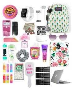 """""""School essentials"""" by grace-j-sturgeon on Polyvore featuring JanSport, Beats by Dr. Dre, Natasha Couture, Maybelline, Dove, Chanel, Native Union, Monki, Speck and ban.do"""