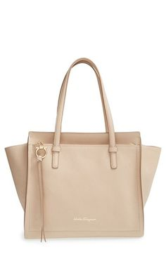 Salvatore+Ferragamo+'Small+Amy'+Calfskin+Tote+available+at+#Nordstrom