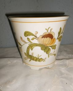Italian porcelain planter vintage by LADYG99 on Etsy