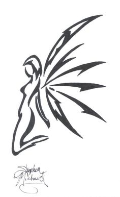 Art Tribal Fairy Tattoo Designs girl would like this Arte Tribal, Tribal Art, Fairy Wing Tattoos, Maria Tattoo, Fairy Stencil, Airbrush Tattoo, Fairy Tattoo Designs, Best Sleeve Tattoos, Shoulder Tattoos