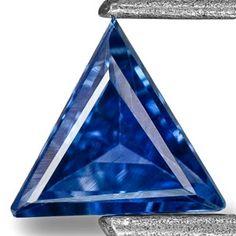 0.27-Carat Trilliant-Cut Flawless Neon Blue Madagascar Sapphire
