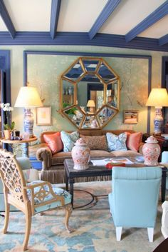 Miles Redd. [Blog with Design Tips] 3 Ways to Decorate in Gorgeous Colors with Oushak Rugs