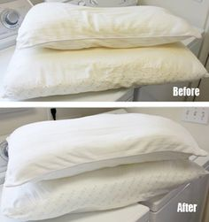 Starts At Sixty! | How to wash and whiten yellow pillows