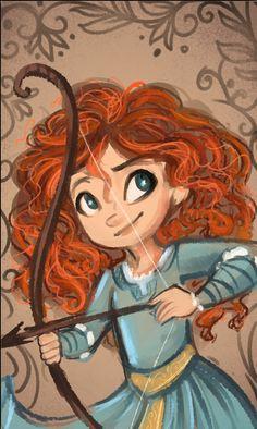 Brave Fan Art: Little Merida Disney Fan Art, Film Disney, Arte Disney, Disney Magic, Disney And Dreamworks, Disney Pixar, Disney Characters, Merida Disney, Brave Merida