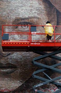 RONE @ Mural Festival 2014, Montreal, Canada