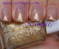 as gold as it gets, Scrangie: Essie Luxeffects Glitter Topcoat Collection Holiday 2011 Swatches and Review