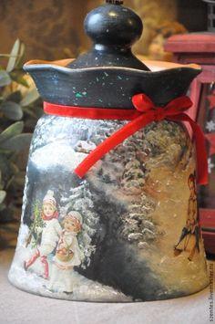 Купить Керамическая конфетница/печеньица ,,Мешок Деда Мороза,, - новый год 2015, Керамика, рождество 2015