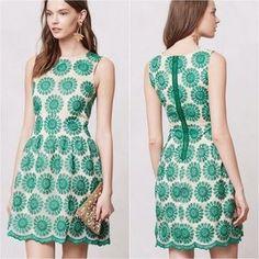 Anthropologie Dresses & Skirts - Anthropologie Lacebloom Dress green by Leifsdottir