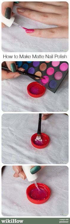 how to make matte nail polish @kloweryrobinson