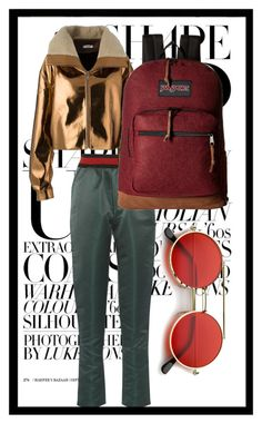 """""""Sin título #111"""" by alejaaaadra ❤ liked on Polyvore featuring Tomas Maier, Masha Ma, JanSport and ZeroUV"""