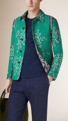 Floral Print Cotton Utility Jacket | Burberry