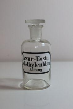 Bouteille de chimie Vintage aphoticary - Azur-éosine Methylenblau Lösung sur Etsy, 12,00€