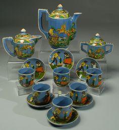 Tlaquepaque Tea Set - Balbino Lucano, c. 1930's
