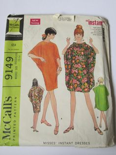 Vintage sewing Pattern UNCUT Caftan simplicity 5680