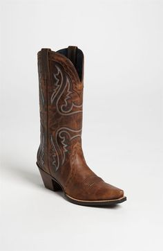 Wearing Boots with your prom dress what about these  -  Ariat 'Western Heritage X Toe' Boot #IPAProm