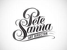 Great Logo - P.Sanna type by Yosuke Ando, via Behance #Typography #Logo #Inspiration