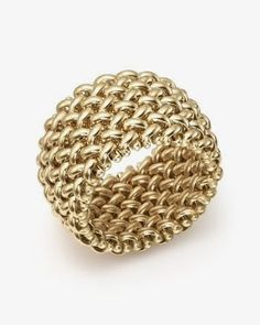 Bloomingdale's Woven Ring in Yellow Gold - Exclusive Jewelry & Accessories - Fine Jewelry - Rings - Bloomingdale's Diamond Jewelry, Gold Jewelry, Jewelry Rings, Jewelry Accessories, Fine Jewelry, Gold Bracelets, Gold Necklace, Jewelry Making, Jewelry Sets