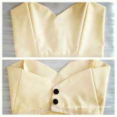 Lovely Tutorial: Cropped Bustier Top ~ Classy Peach - with thick straps to go with a skirt I think!