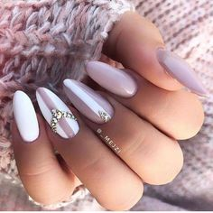 Nageldesign - Nail Art - Nagellack - Nail Polish - Nailart - Nails Gorgeous pink and white nails - # Nail Polish, Nail Manicure, Nagel Stamping, Nails Today, Super Nails, Rhinestone Nails, Nagel Gel, Gorgeous Nails, Stiletto Nails