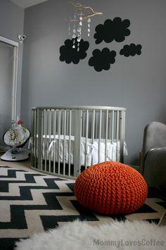 On-trend chevron & gray nursery space with Stokke Sleepi convertible crib via Nursery Living Room Decor Fireplace, Nursery Inspiration, Nursery Ideas, One Bed, Baby Room Design, Nursery Organization, Convertible Crib, Kids Decor, Home Decor