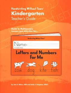 """Handwriting without tears"" curriculum from Sonlight $35 My daughter loves her kindergarten printing book!"