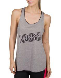 Jockey Fitness Warrior Tank Top Women's Black/Grey X-Large