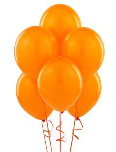 orange Latex balloons $0.99/6