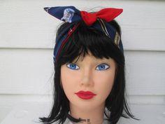 Music fabric music festival headband headscarves by Ritaknitsall, $14.00