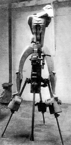 Jacob Epstein's original version of 'Rock Drill' (1913-1915)