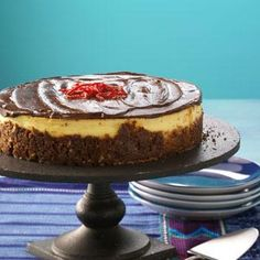Celebrate Cinco de Mayo  Every fiesta needs a sweet ending, and that's when this Dulce de Leche Cheesecake makes its apperance. Creamy and positively gorgeous, this cheesecake captures the decadence of this classic dessert.