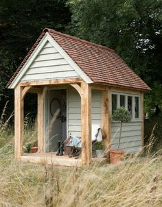 Border Oak garden building. I'll have this as my end-of-the-garden-escape please.                                                                                                                                                      More