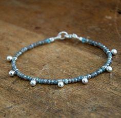 Labradorite Ball Bracelet - Vivien Frank Designs Fall Jewelry, Diy Jewelry, Beaded Jewelry, Handmade Jewelry, Jewelry Making, Love Bracelets, Jewelry Bracelets, Jewelery, Anklet Jewelry