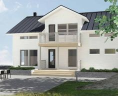 The ideal coastal home Self Build Houses, Storey Homes, Construction Services, Scandinavian Home, Building A House, This Is Us, Mansions, House Styles, Outdoor Decor