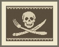 Kissy-Cross: Freebies | free cross-stitch charts ... yeah, I'm gonna have to do the skull & cross-utensils...