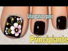 You tube toenail design Pedicure Designs, Pedicure Nail Art, Toe Nail Designs, Toe Nail Art, Manicure And Pedicure, Flower Toe Nails, Flower Nail Art, Pretty Toe Nails, Cute Toe Nails