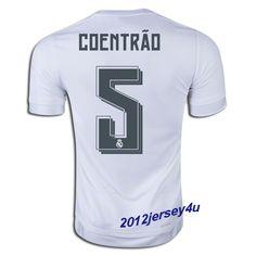 2014 15 Fabio Coentrao 5 Real Madrid Home Soccer Jersey shirt  f9d563d56